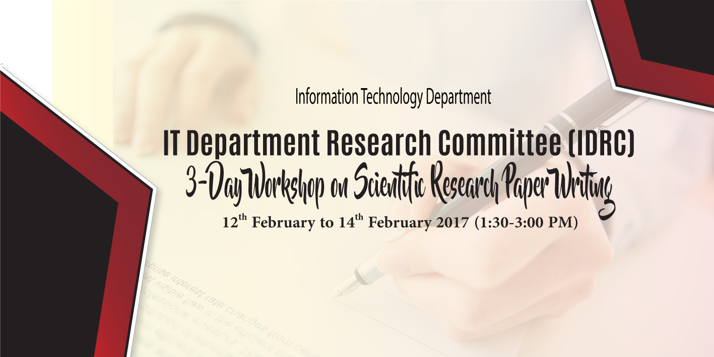 Scientific research paper writing workshop