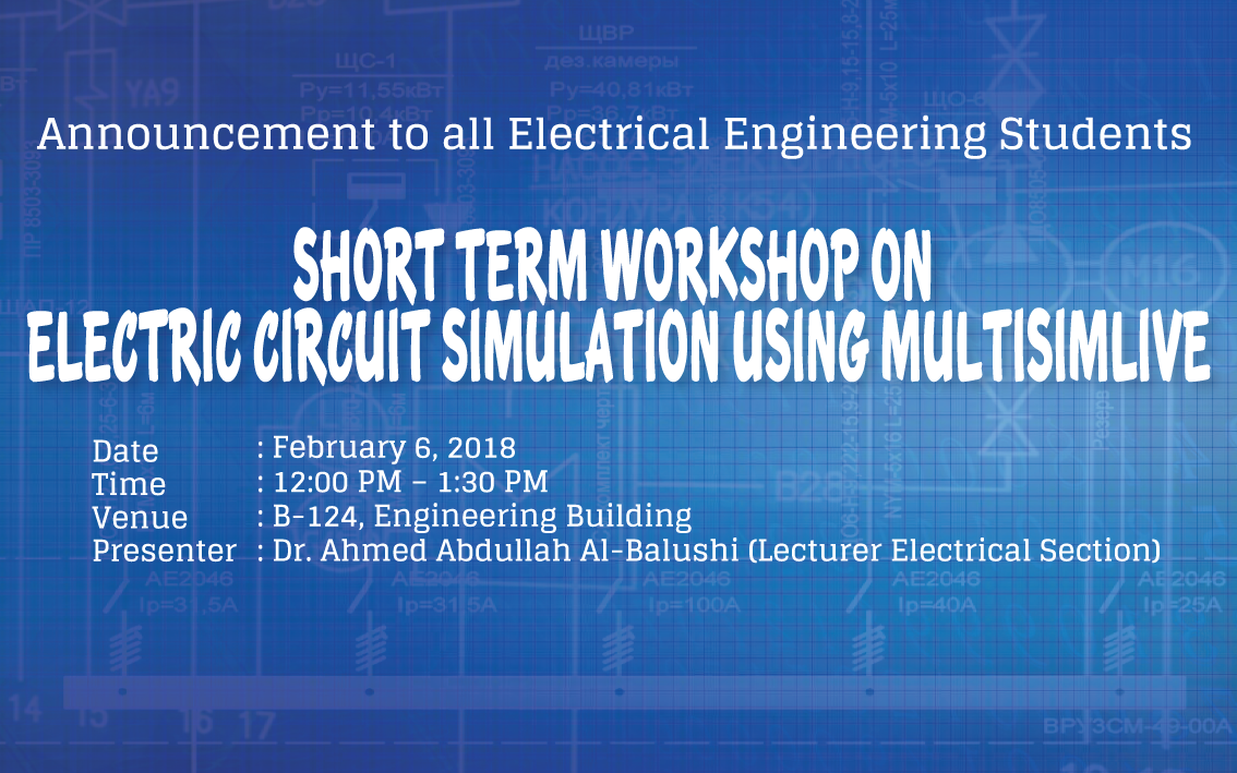 Workshop on Electric Circuit Simulation using MultisimLive | Shinas ...