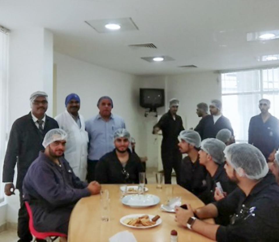 Mechanical Engineering studs visit Al- Sallan Food Industries